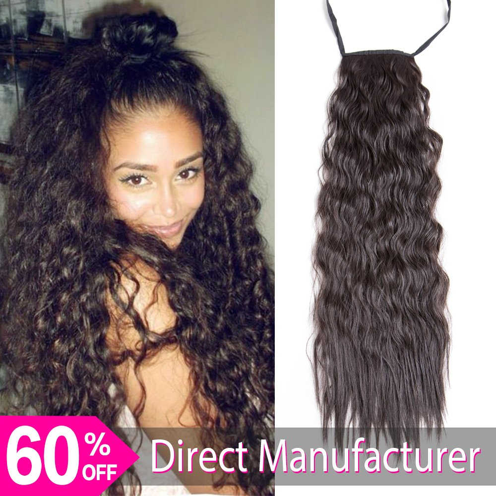 Amazon Com 26 Long Ponytail Hair Extension Dark Brown One Piece
