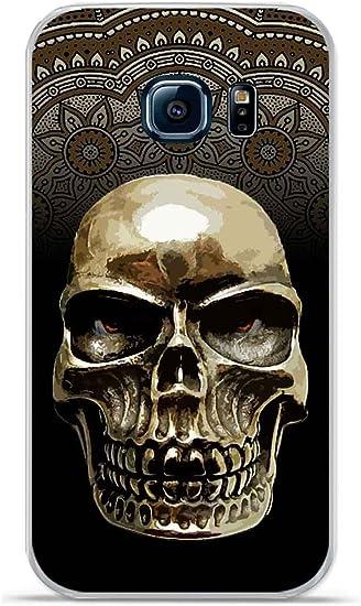 Coque TPU gel souple Galaxy S6 Edge Plus design Tete de mort fond ...