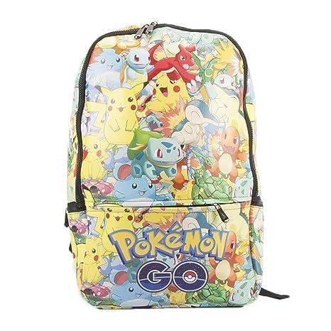 Ddong Unisexo Mochilas Estudiante Fashion Pokemon Impresión Rucksack Infantiles Bolsas Escolares für Niños y Niñas Daypack
