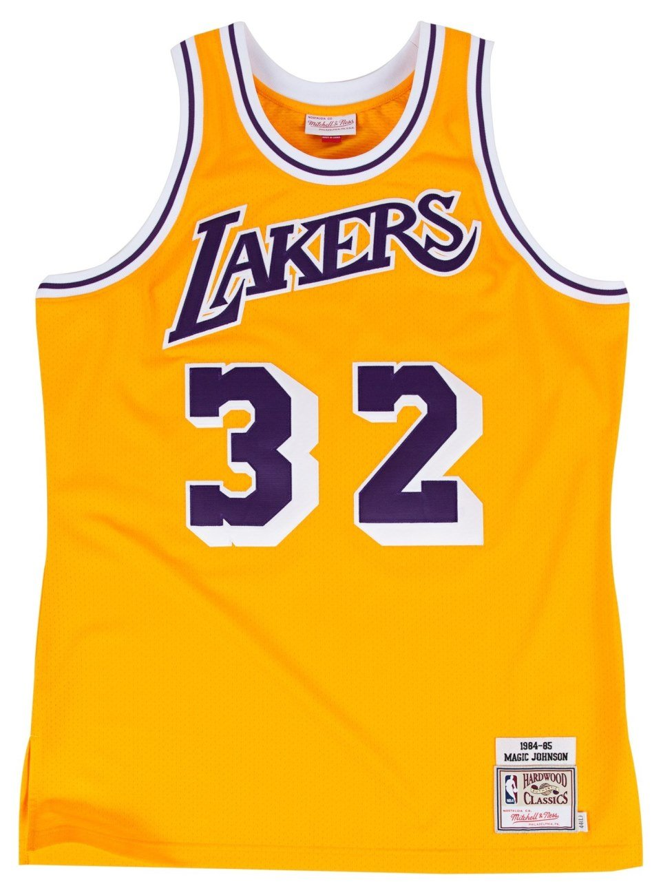 01cb7205c9c ... Amazon.com NBA Mitchell Ness Earvin Magic Johnson Los Angeles Lakers  Authentic Throwback Jersey ...