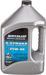 Quicksilver 4-Stroke Marine Engine Oil - SAE 25W-40 for Outboard, Sterndrive and Inboard Engines