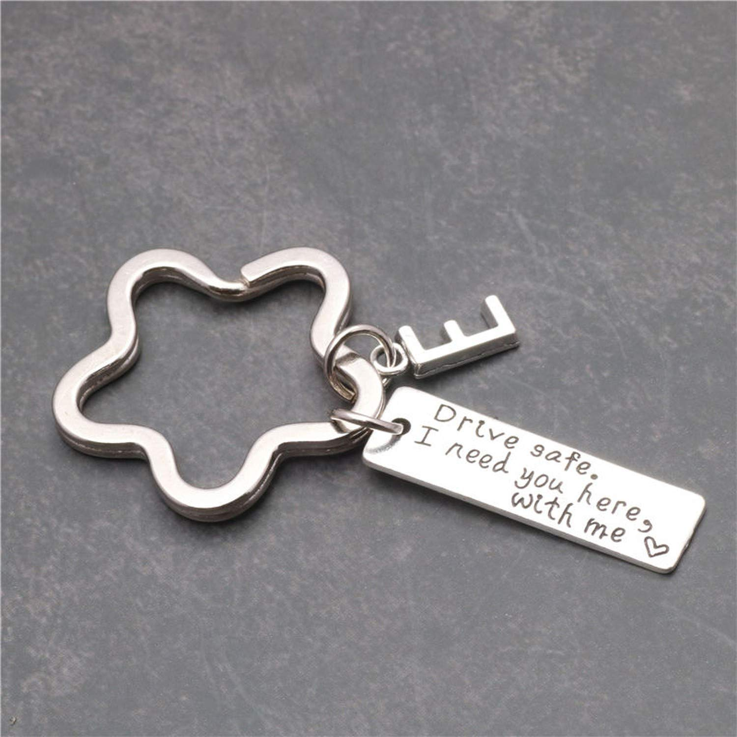 Amazon.com: Letter A Z Key Chain Drive Safe I Need You Here ...