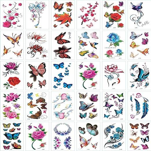 10pcs-Small Fresh Tattoo Stickers simulación Pegatinas de Tatuaje ...