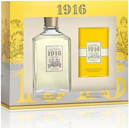 Agua de colonia 1916 - Estuche frasco 200+pastilla de .jabón -: Amazon.es: Belleza