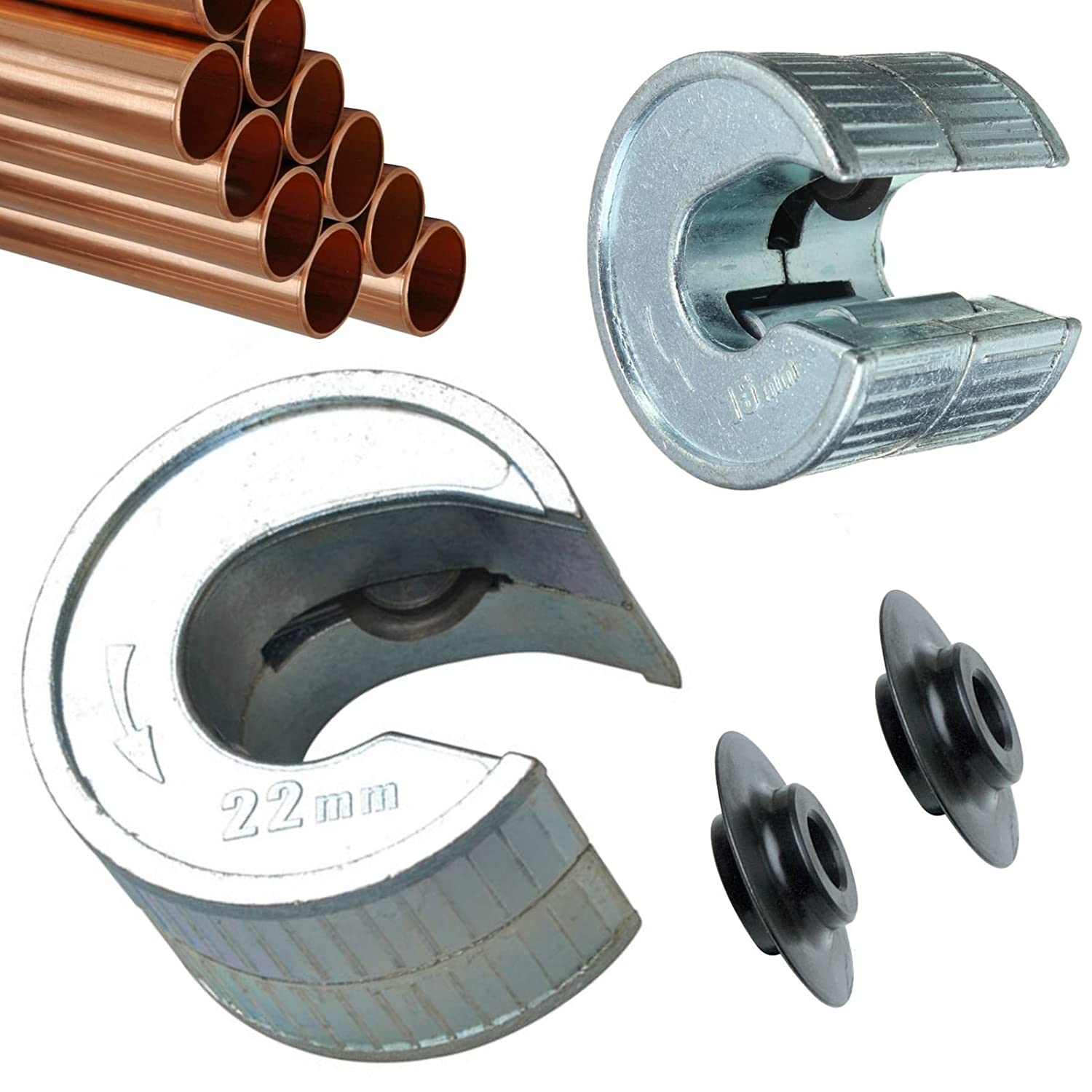 15 /& 22mm Copper Pipe Tube Slice Cutter Plumbing Self Locking and Self Adjusting