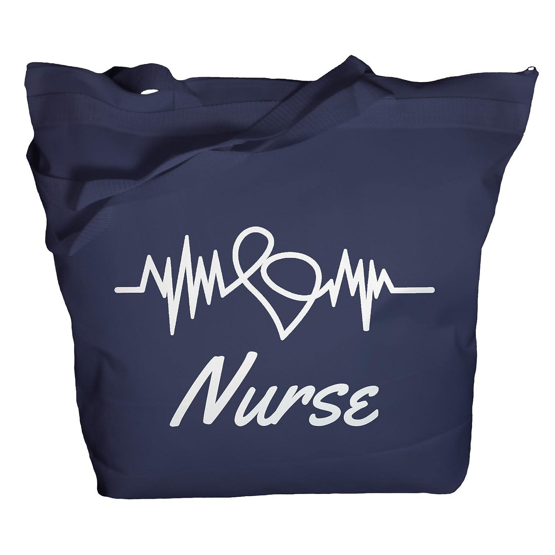 Shirts By Sarah Tote Bag Nurse Bags EKG Heart Totes For Nurses Nursing