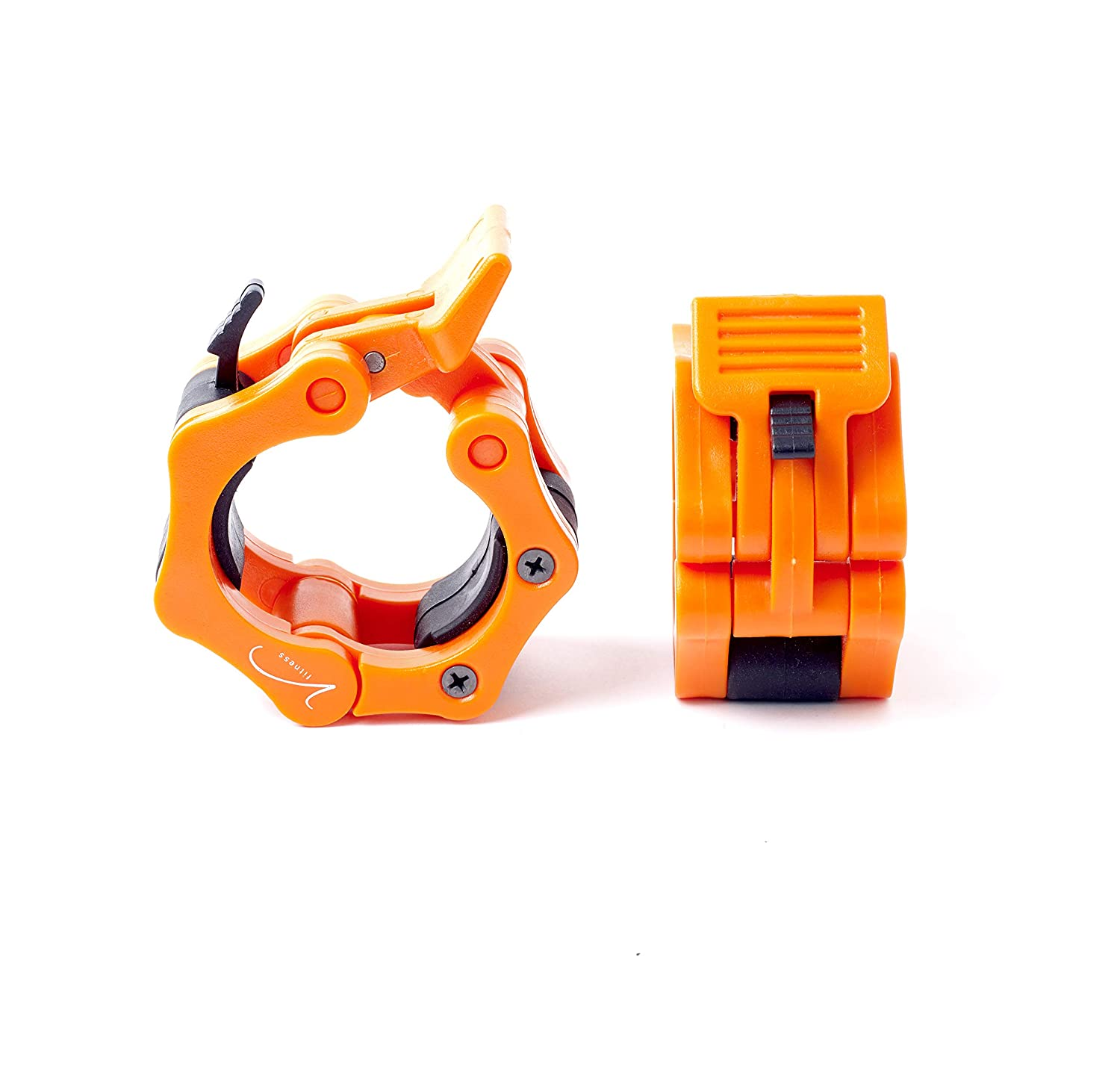 """Vida Fitness 2/"""" Barbell Collar Clamps Pair of Quick Release Clips for Olympic a"""