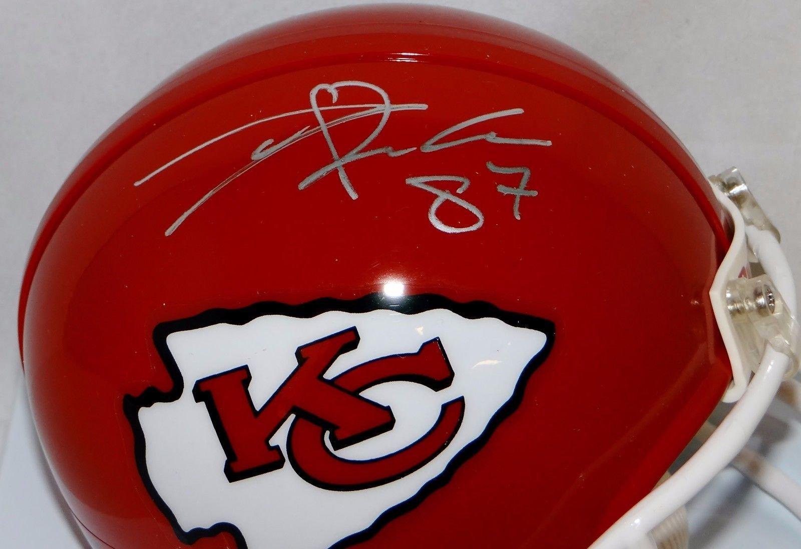 Travis Kelce Autographed Kansas City Chiefs Mini Helmet JSA Witnessed Auth