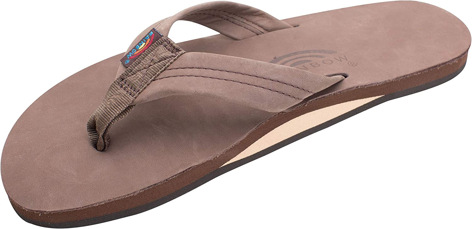   Rainbow Sandals Men's Premier Leather Single Layer Wide Strap with Arch   Sandals