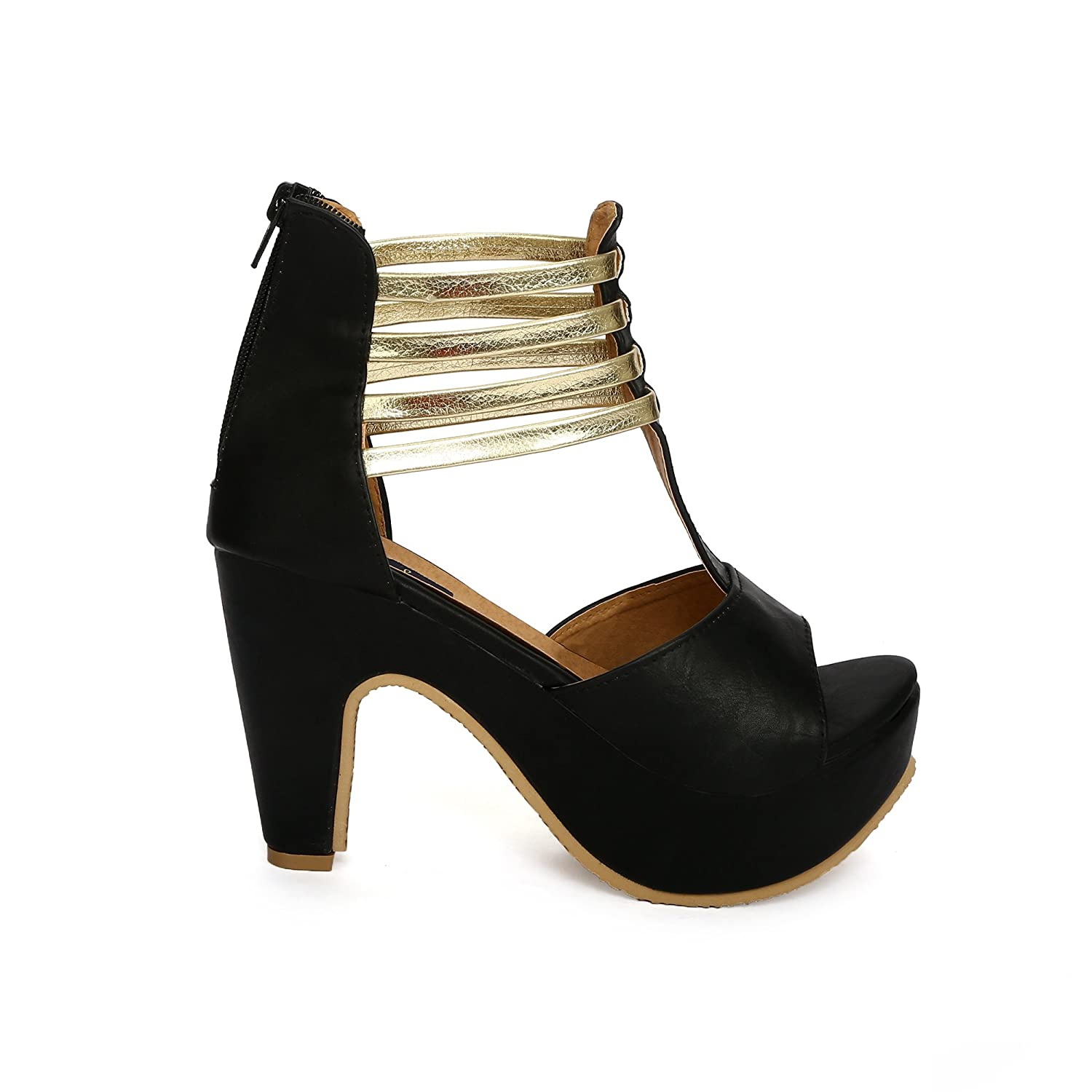 c61d520f0 Funku Fashion Black High Heels (FF-D-1006-Black-40)  Buy Online at Low Prices  in India - Amazon.in
