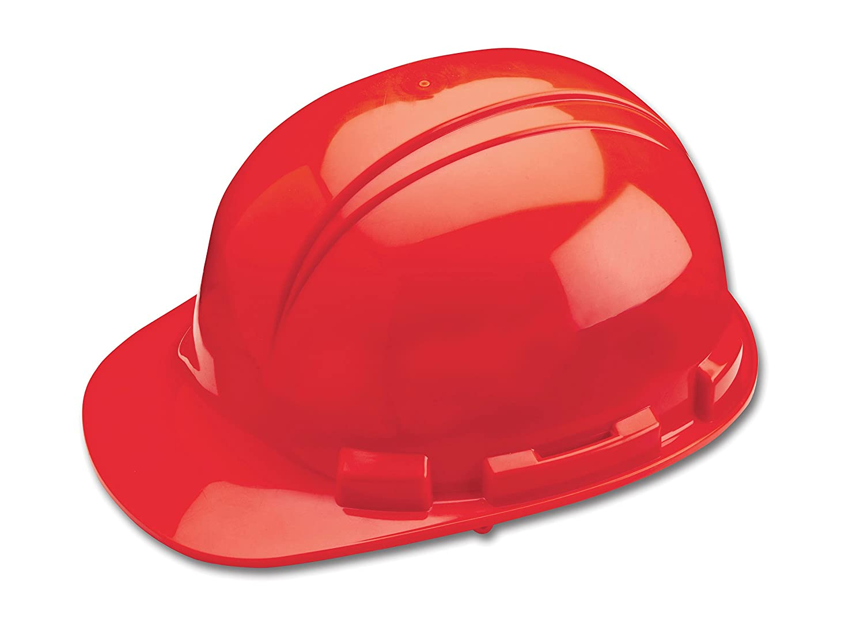 Dynamic Safety HP241//05 Whistler Hard Hat with 4-Point Nylon Suspension and Pin Lock Adjustment Hi-Viz Red One Size ANSI Type I