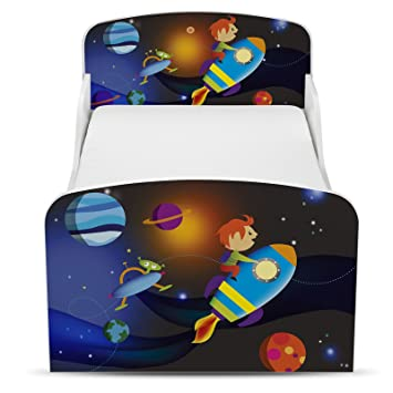 Price Right Home Space Rocket Design Mdf Toddler Bed With Storage