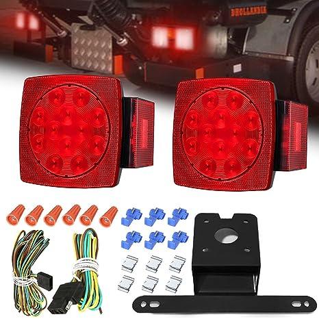 AMBOTHER LED Boat Trailer Tail Lights Kit Submersible Tail Lamp Running  Stop Turn Signal Brake Marker