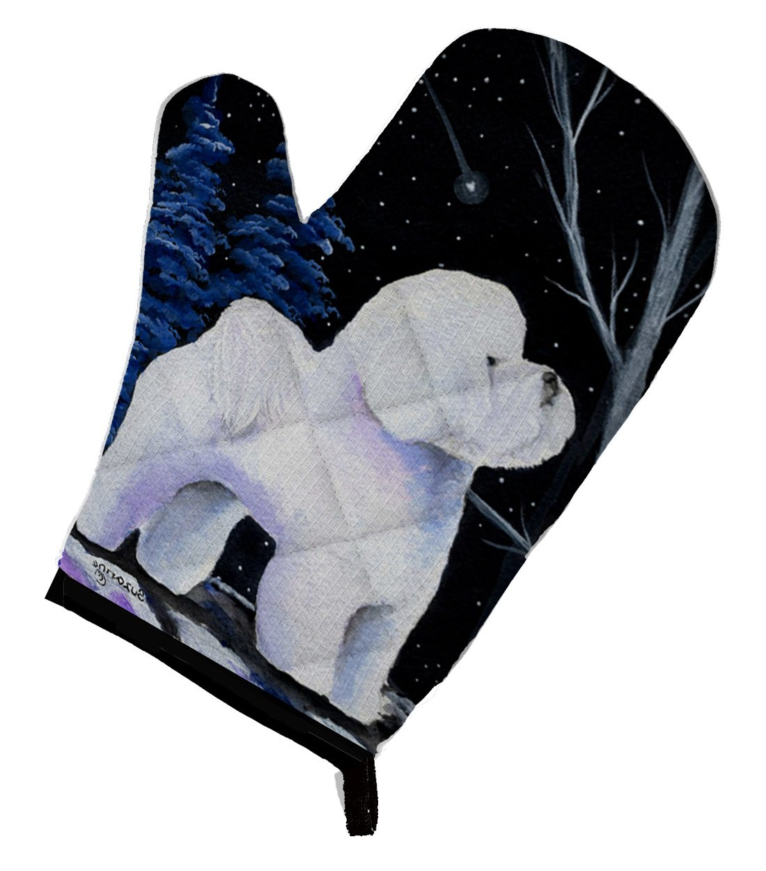 12 by 8.5 Carolines Treasures SS8397OVMT Starry Night Bichon Frise Oven Mitt Multicolor