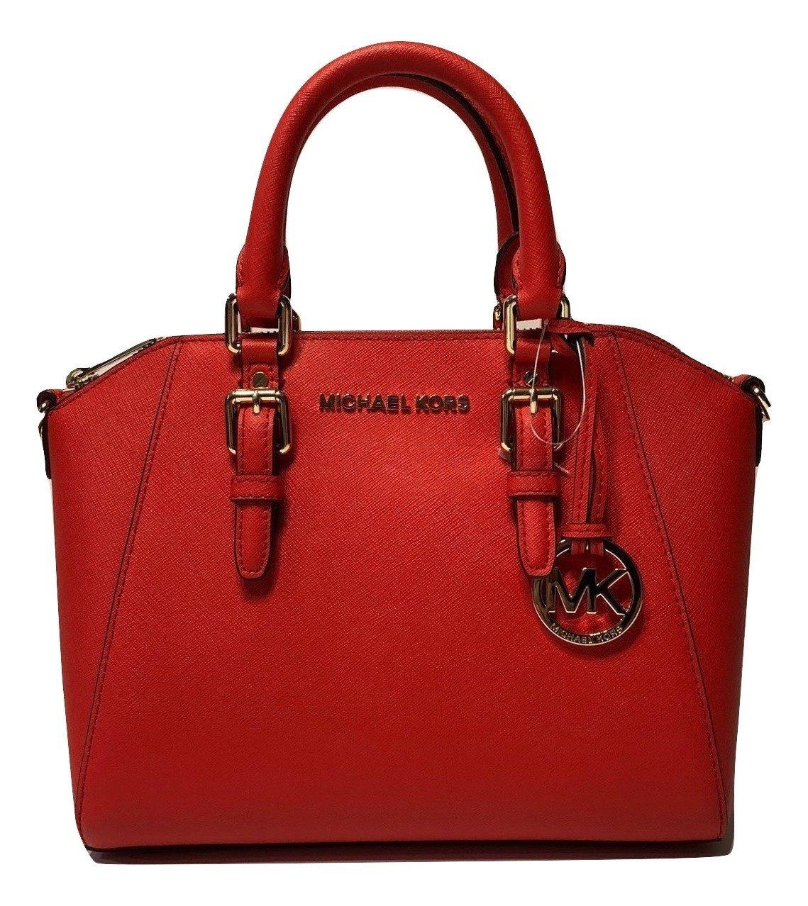 MICHAEL Michael Kors Ciara MD Messenger Handbag (DK Sangria) by Michael Kors