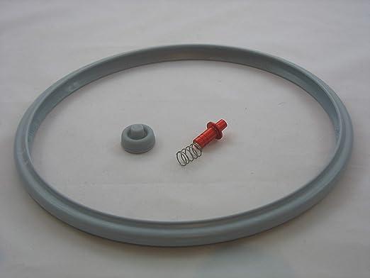 Reparaturset für Schnellkochtopf WMF Ideal Dichtungsring 22cm + Druckanzeiger Ventil Kochsignal