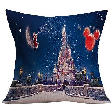 Amazon.com: 2018 Decorative Throw Pillows Case Merry Cotton ...