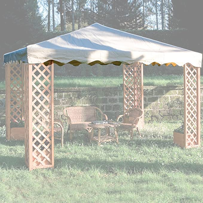 GIARDINI DEL RE - 50509 Toldo para Gazebo Maxima, Recubierto de PVC, Color Crudo: Amazon.es: Jardín