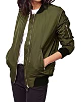 ZANZEA Women Classic Stand Collar Zip Up Casual Quilted Short Coat Outerwear Bomber Jacket