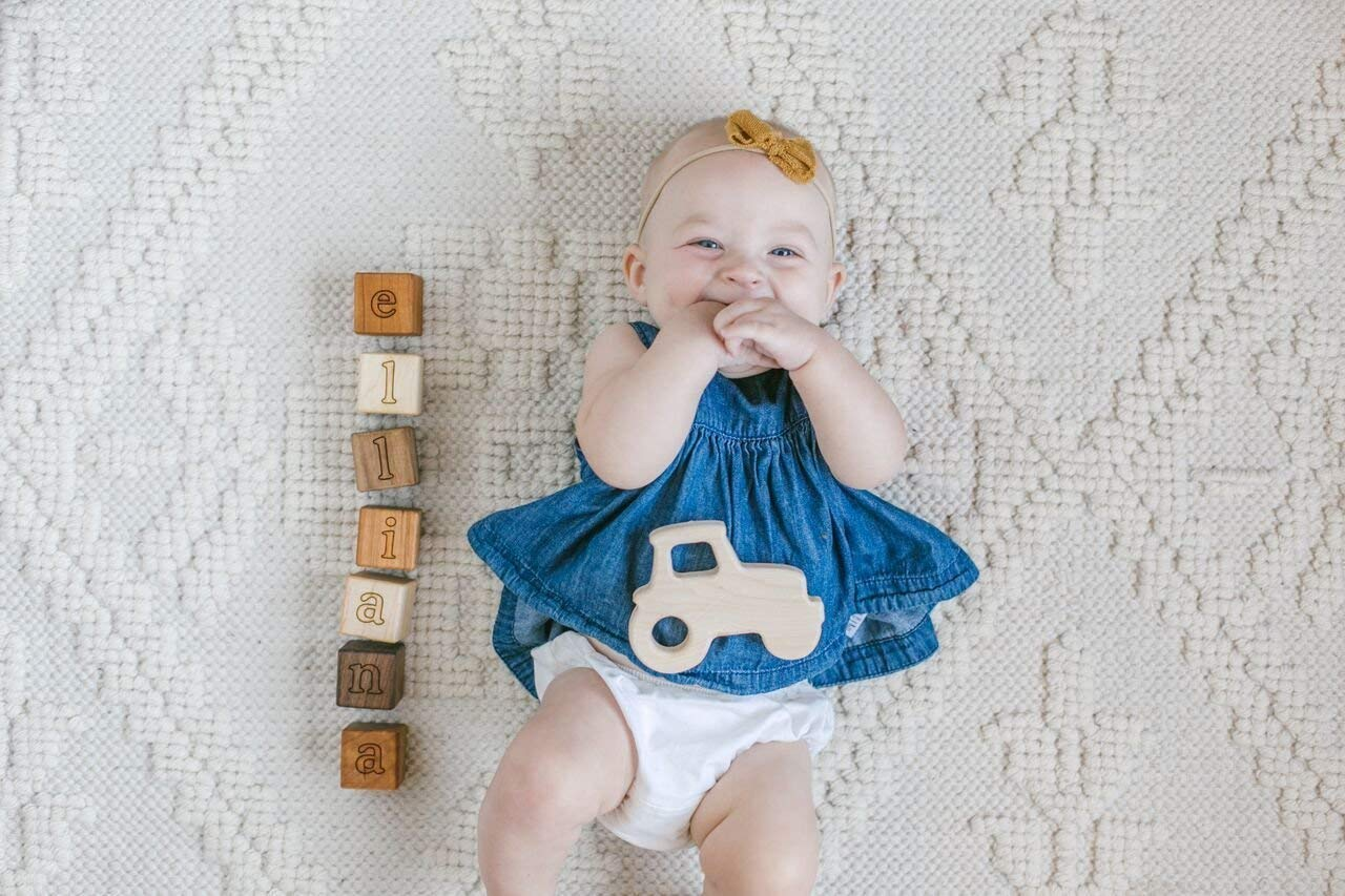 Tractor Wooden Teether