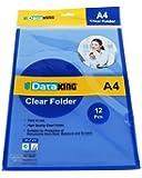 Dataking L-Shape Clear Folder, Size: A4, Color: Blue, Set of 24