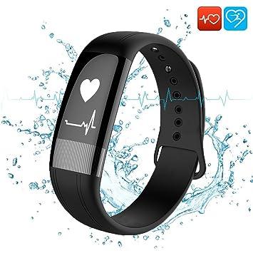 Montre Connectée, Beneray Bracelet dactivité Bluetooth avec ECG, fréquence cardiaque, pression artérielle et moniteur de ...