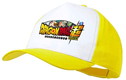 MERCHANDMANIA Gorra Amarilla Dragon Ball Super New Logo Color Cap
