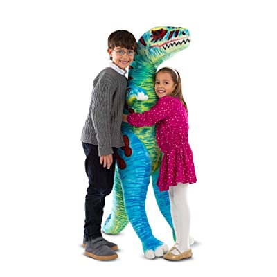Melissa & Doug T-Rex Jumbo Plush Dinosaur (Lifelike Stuffed Animal, Over 4 Feet Tall), Great Gift for Girls and Boys - Best for 3, 4, 5, and 6 Year Olds: Toys & Games