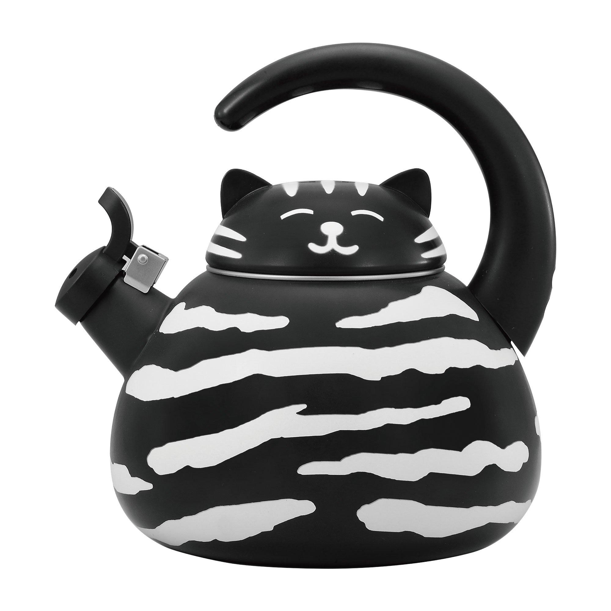 Supreme Housewares Gourmet Art Black Cat Enamel-on-Steel Whistling Kettle by Supreme Housewares (Image #1)
