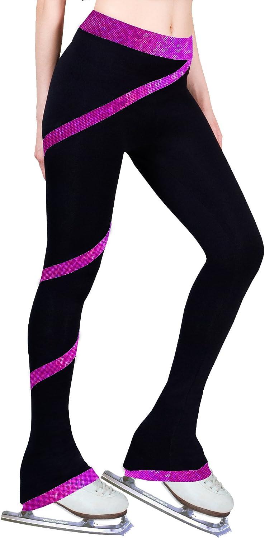 Hologram Foil Pink, Child Extra Small ny2 Sportswear Figure Skating Spiral Polartec Polar Fleece Pants