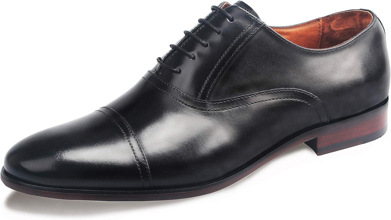 TALLA 43 EU. Desai Zapatos con Cordones de Cuero Hombre