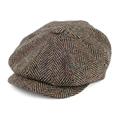081ad5f41 City Sport Donegal Tweed Herringbone Fleck Newsboy Cap - Brown Multi ...