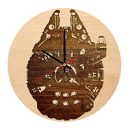 Amazon Com Millennium Falcon Art Design Handmade Wood Wall Clock
