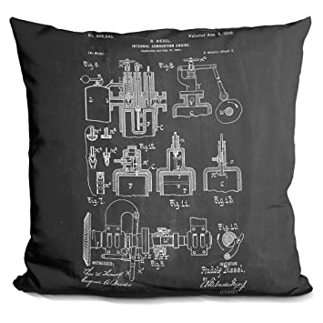 Lilipi diesel motor decorative accent throw pillow