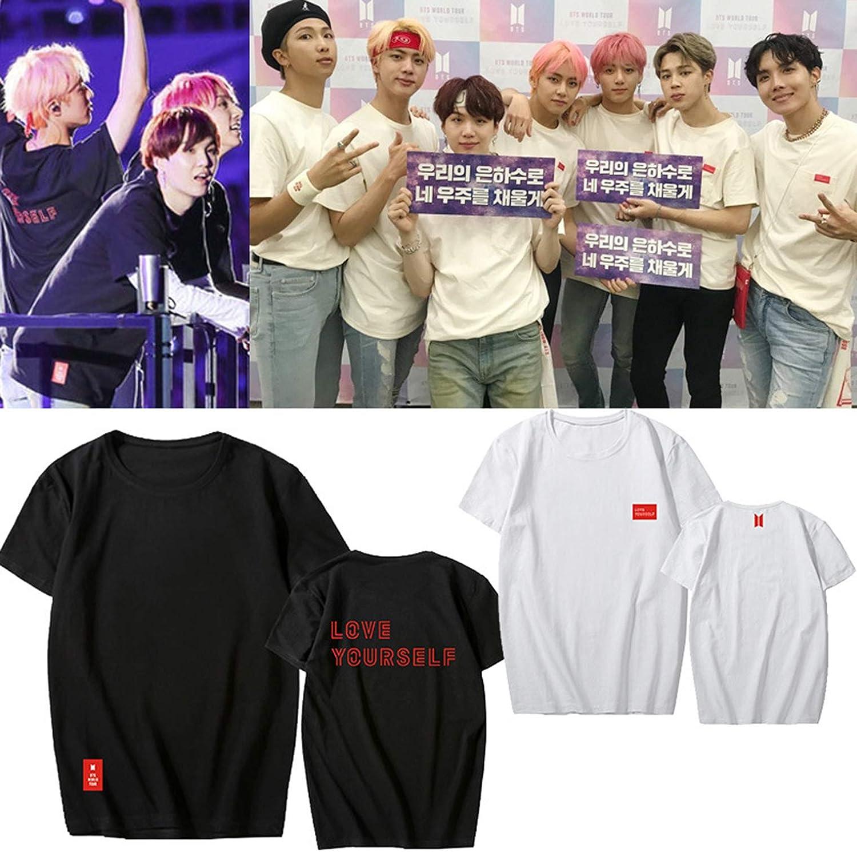 babyhealthy Kpop Album Love Yourself T-Shirt Jimin Suga Jung Kook World Tour Tee Shirt Tops Merch