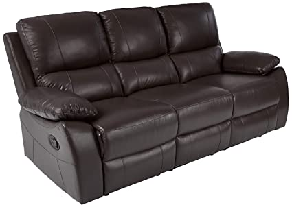 Amazon.com: Homelegance Greeley Reclining Sofa Top Grain Leather ...