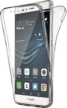 Buyus Coque Gel Huawei P9 Lite 360 Degres Protection Maximale Integral Anti Choc, Etui Mince Transparent Invisible P9 Lite