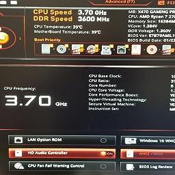 Amazon Co Jp カスタマーレビュー Msi X470 Gaming M7 Ac Atx ゲーミングマザーボード Amd X470チップセット搭載 Mb4386