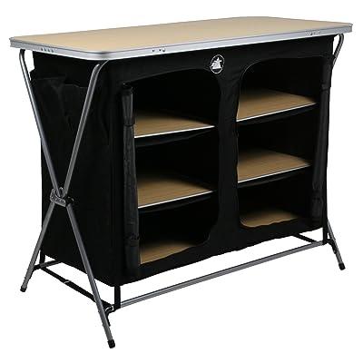 10T flapBOX 6 Armoire de camping 6 casiers Noir