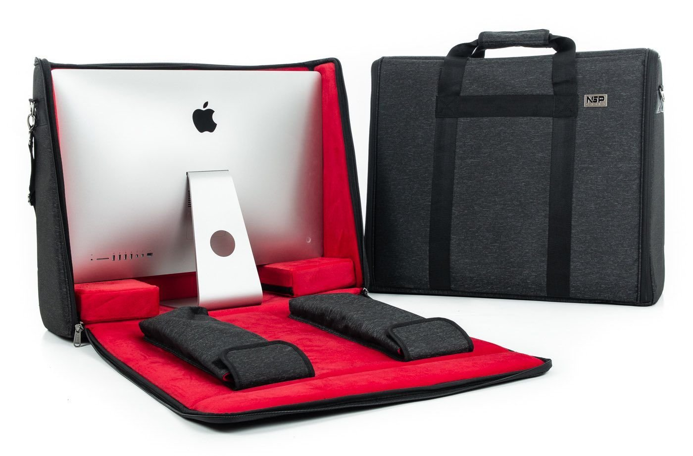 NSP Cases NSP-iMAC21B - Maletí n de transporte para iMac de 21,5' (con mango y correa para llevar al hombro), color negro 5 (con mango y correa para llevar al hombro)