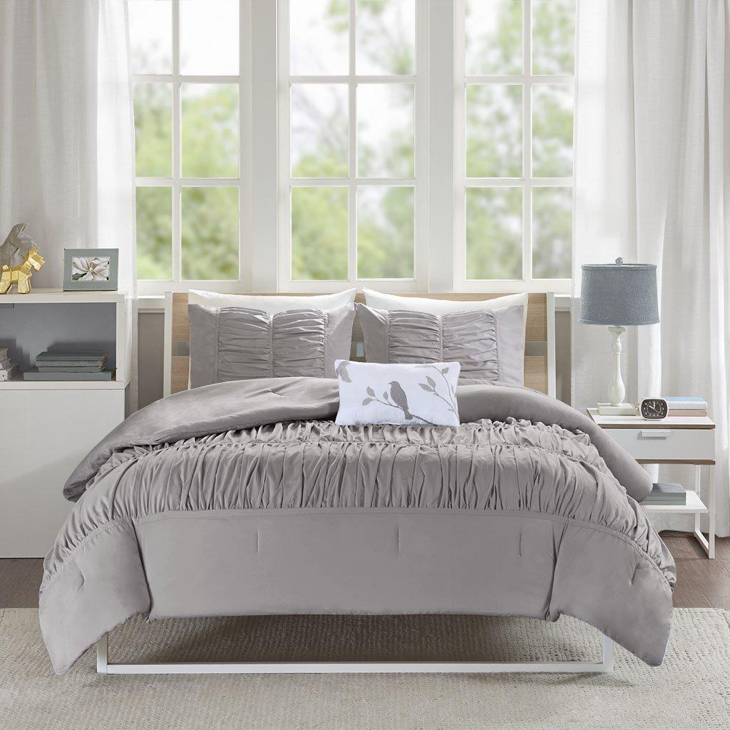 Mi-Zone Mirimar Comforter Set, King/California King, Grey