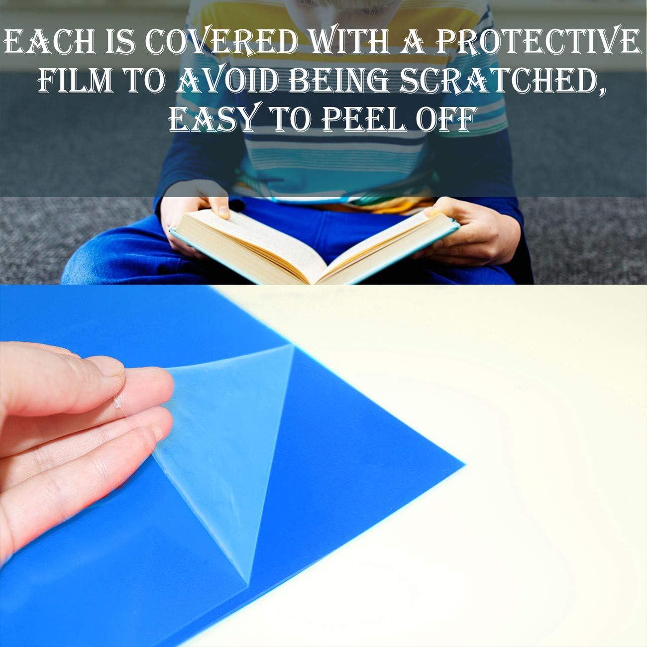 Gel Light Filter Plastic Sheet 8.5 x 11-Inches SAKOLLA 10 Pieces Transparent Blue Correction Lighting Gel Filter