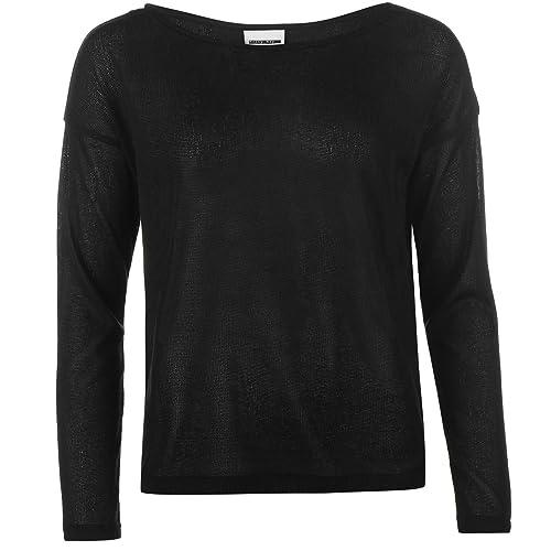 Noisy May Mujer Fashion Boat Neck De Punto Jumper Vestir Sueter Blusa Casual Black (M) 12