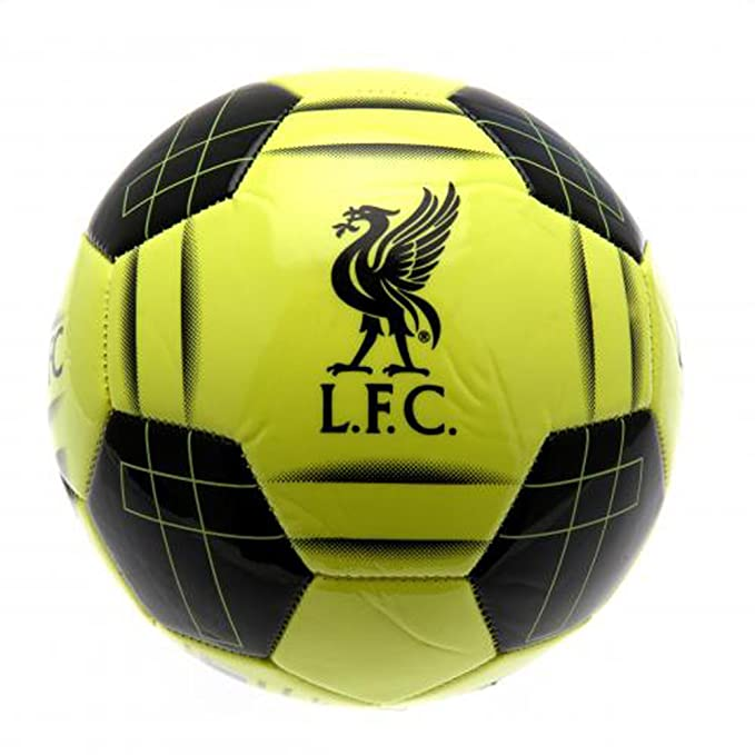 Liverpool FC Official - Balón de fútbol amarillo flúor con escudo ...