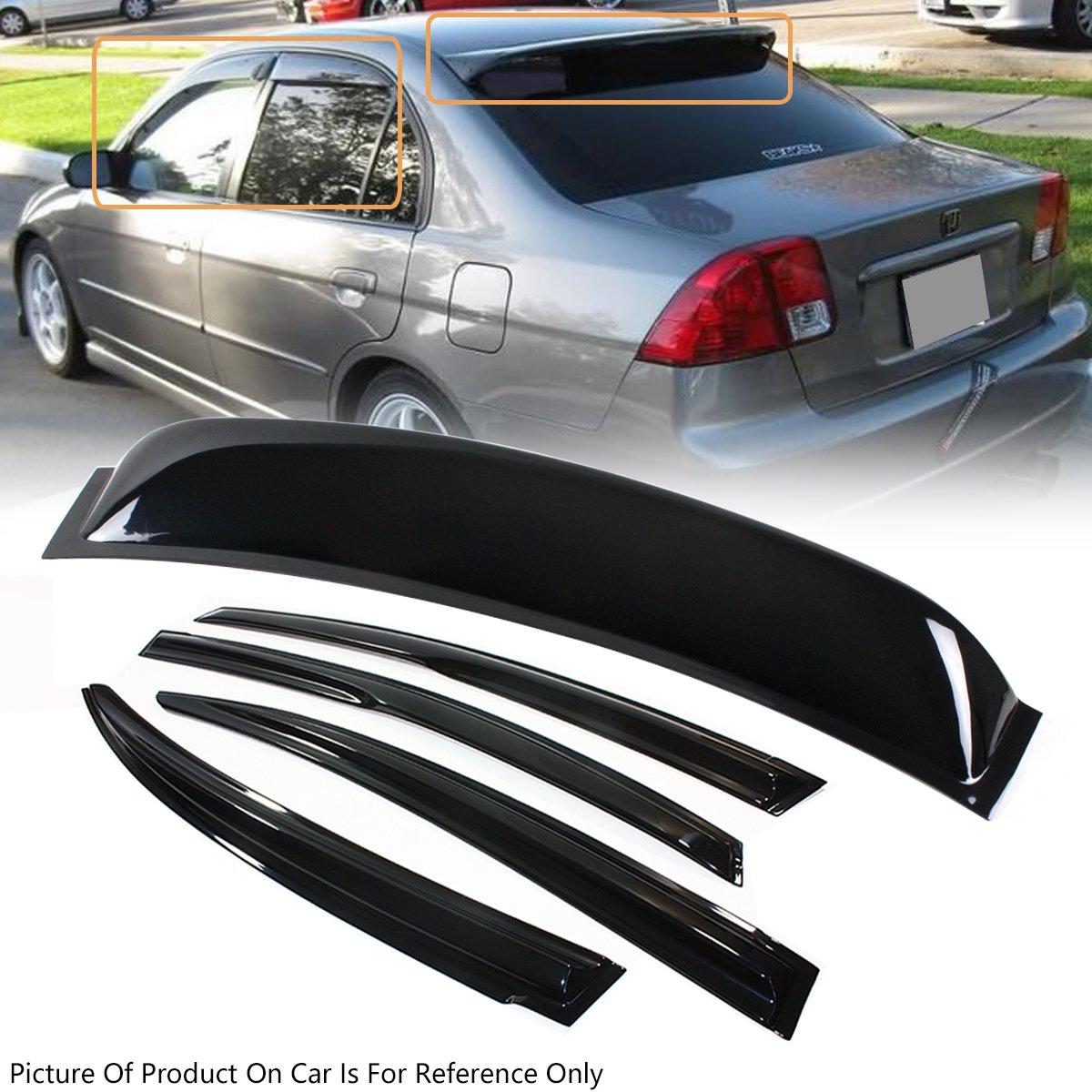 LT Sport SN#100000000554-201 for Honda Civic Rear Window Spoiler Acrylic Rear Visor Deflector