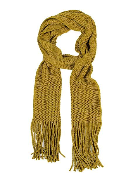 Modadorn Solid Color Knitted Magic Scarf For Womens Fashion For