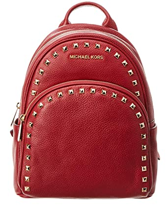 f56eef09fc76 Michael Kors Abbey Medium Frame Out Studded Leather Backpack Cherry:  Amazon.co.uk: Clothing