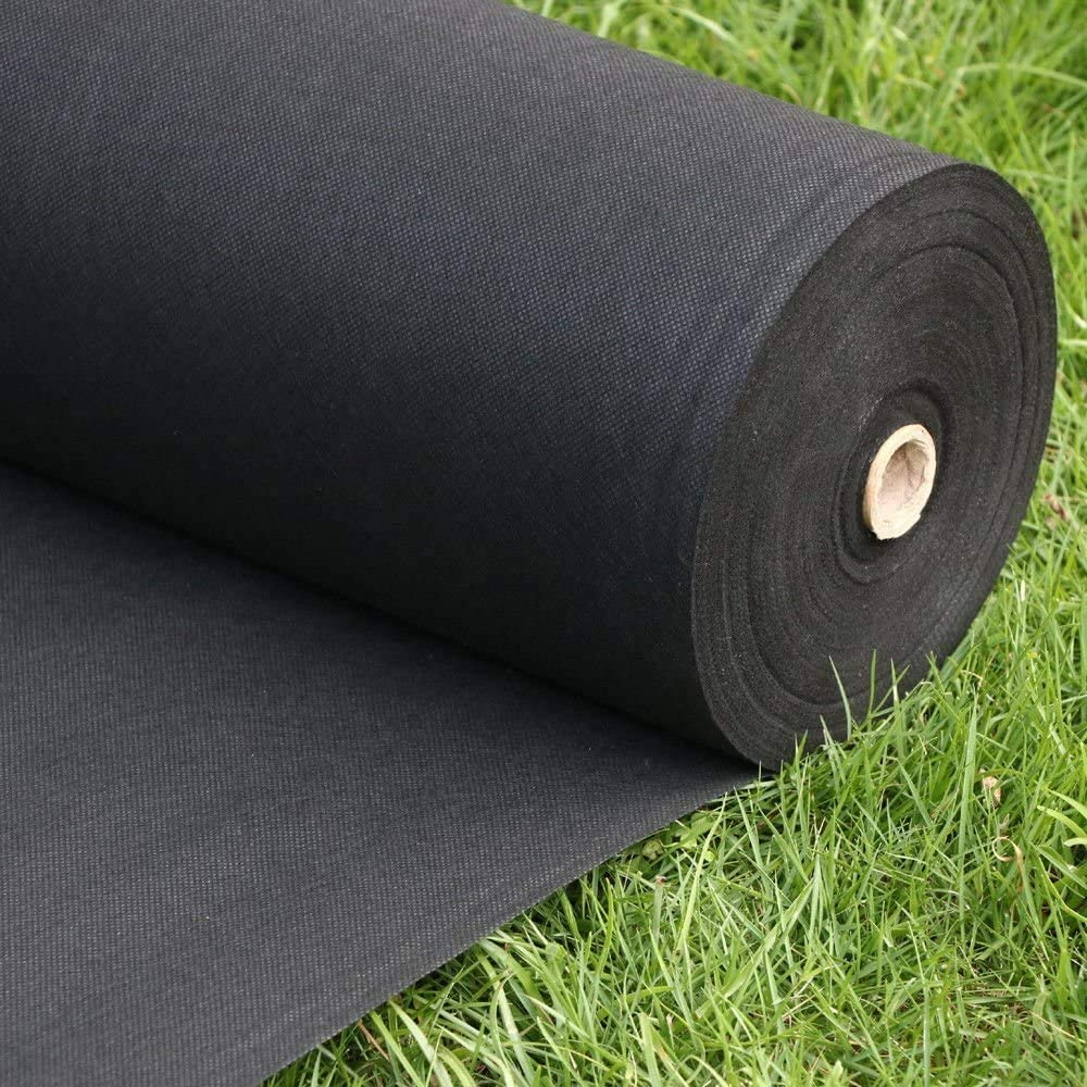 FLARMOR Pro Garden Landscape Fabric Heavy Duty - French Cloth Ground Cover One Roll 6x300 ft 1.8 oz