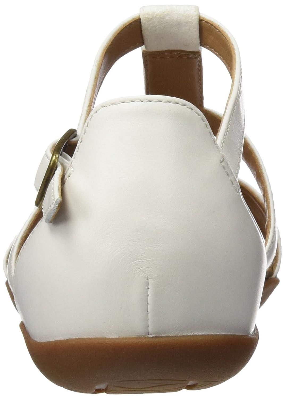 Clarks Damen Autumn Fresh Lea) Sandalen Weiß (Weiß Combi Lea) Fresh 28344b