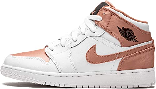 Nike Air Jordan 1 Mid (GS), Scarpe da Basket Donna